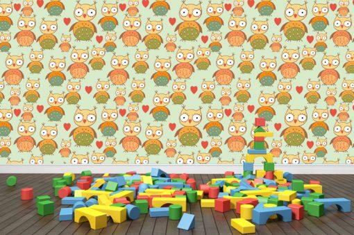 wallpaper-owl-green