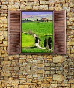 wallpaper-stone-wall-with-window-web