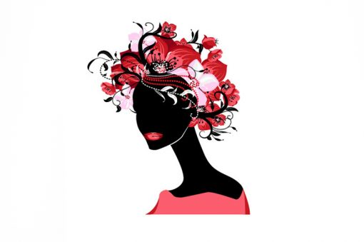 sticker-woman-with-flowers-in-her-hair-preview