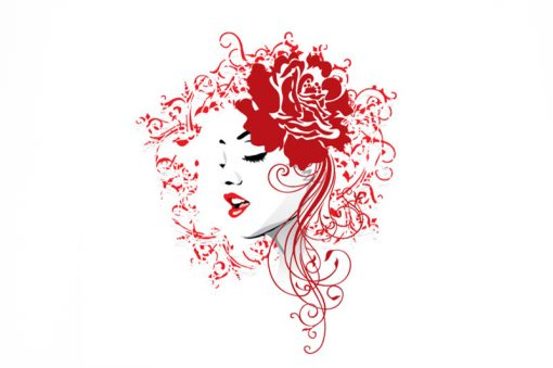 sticker-woman-with-flowers-preview