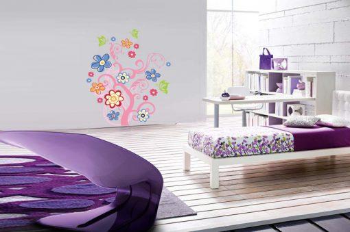 sticker-flowers-with-butterflies
