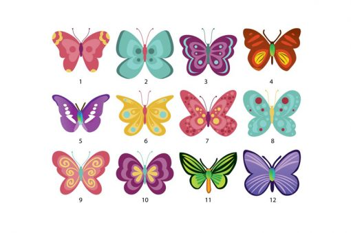 sticker-colorful-butterflies