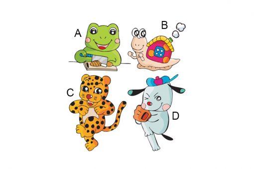 sticker-four-funny-animals