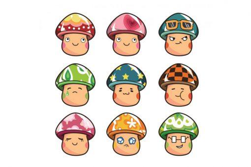 sticker-mushrooms