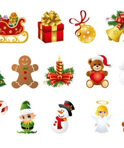 sticker-set-of-christmas-decoration
