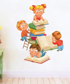 sticker-children-read-books
