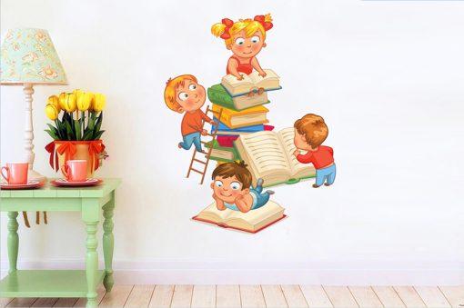 sticker-children-read-books