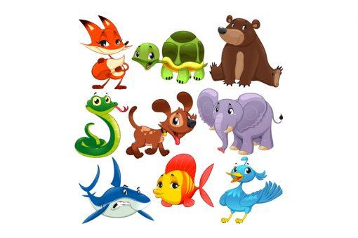 sticker-set-of-animals