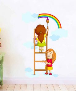 sticker-children-draw-a-rainbow