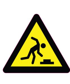 sticker-danger-of-stumbling