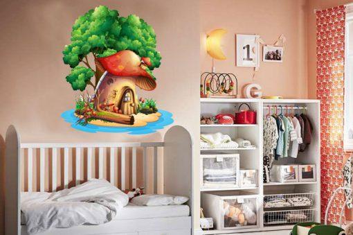 sticker-the-mushroom-house