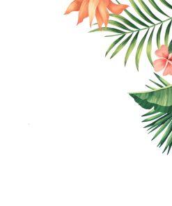 sticker-tropical-flowers