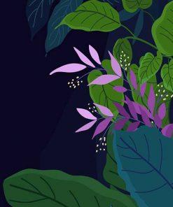sticker-floral-composition